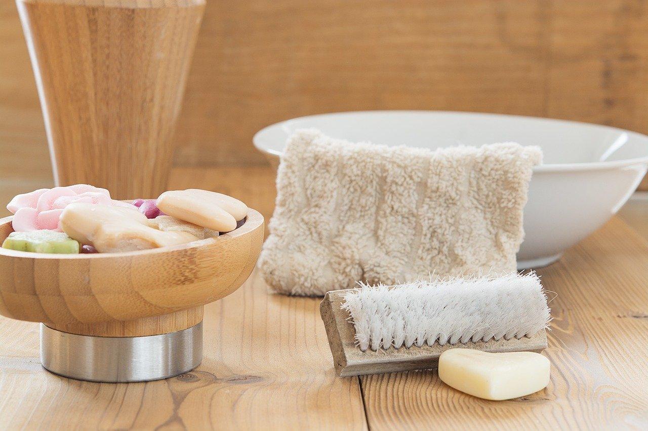 Coupelle savon et brosse